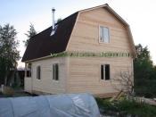 дом 6х5 с террасой (ломаная крыша)