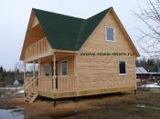 Дом 6х6 терраса 2х6 мансардная крыша